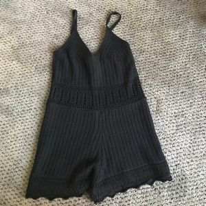 Black romper from Kendall and Kylie